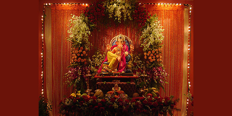 Flower Backdrop for Ganesha