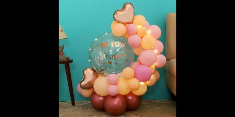 Rose Gold Love Balloon Bouquet