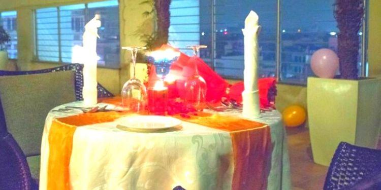 Poolside Candlelight dinner in Jaipur
