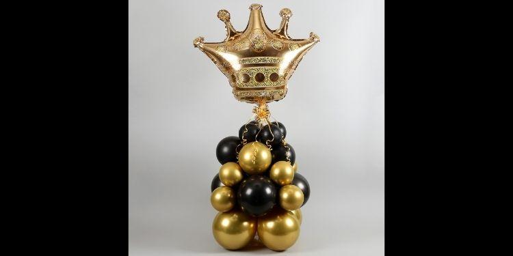 Golden Crown Balloon Bouquet