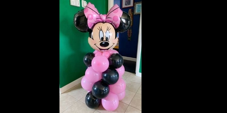 Minnie Themed Balloon Stand
