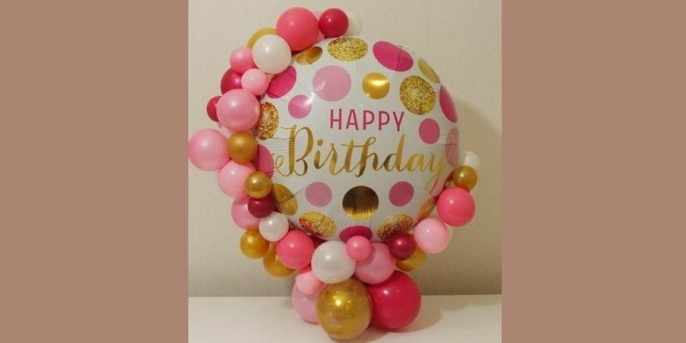 Happy birthday Balloon Stand for Her