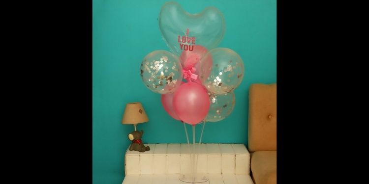 I Love You Pink Balloon Bouquet