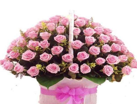 Not just any flowers - send a bucket full of roses to for your loved one or friend!