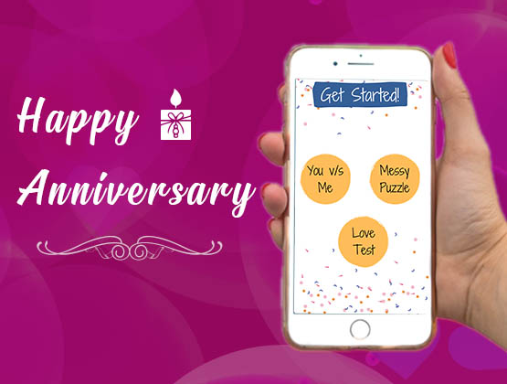 Create a personalised Happy Anniversary e-game APP for your loved ones