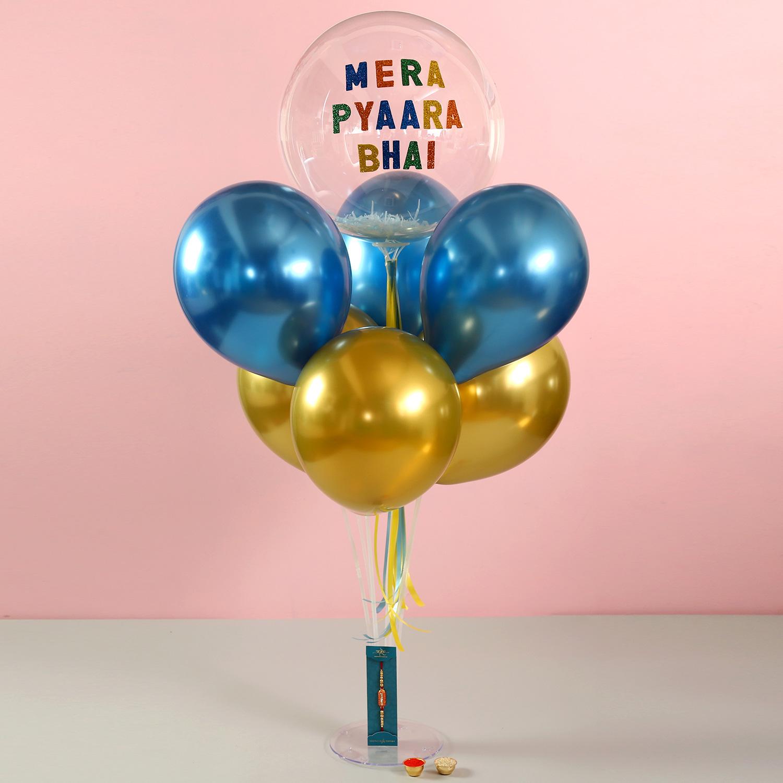 Celebrate this Raksha Bandhan with balloons and smiles, courtesy of our Rakhi Balloon Bouquet.