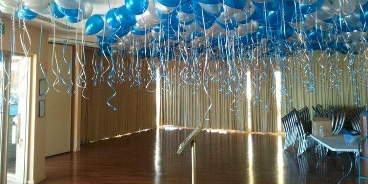 Blue and Silver Balloon Decor