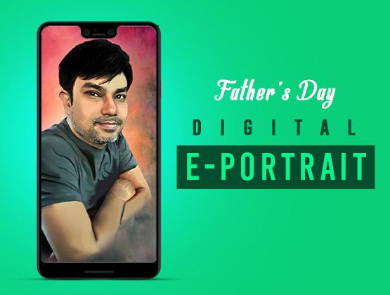 Father's Day Digital E-Portrait