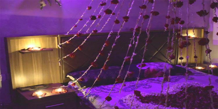 Romantic First Night Decor