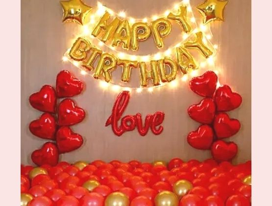 Have a fun-filled, fabulous birthday this year right from the comfort of your home by opting for our birthday decor services.