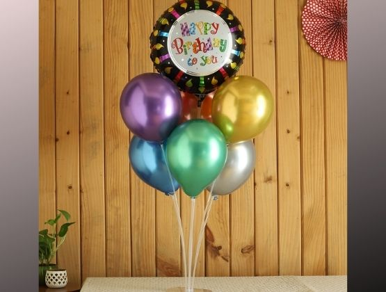 A fabulous surprise comes with a birthday balloon bouquet. This Sparling gift will leave the star of the day spellbound.