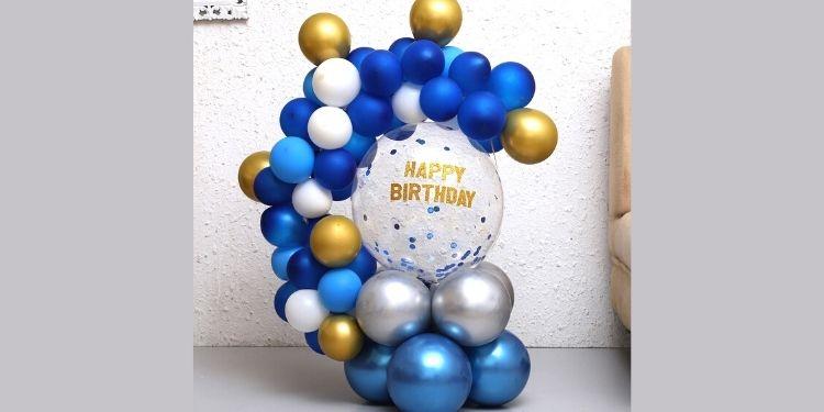 Happy Birthday Transparent Balloon Bouquet