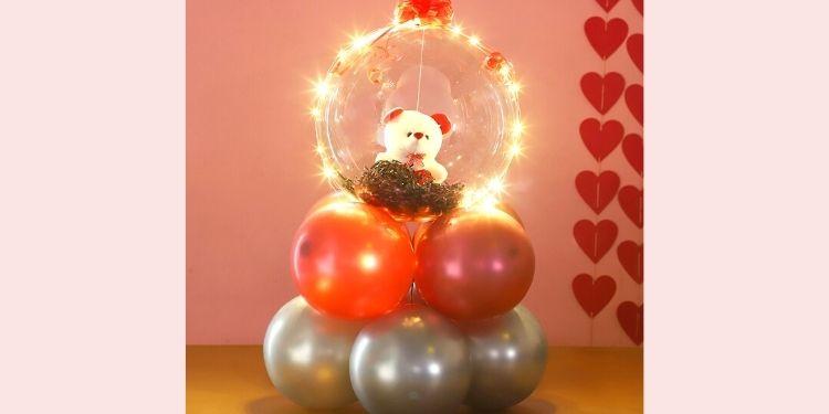 Light Up Love Teddy Arrangement