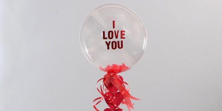 Love You Balloon With Hearts & Wish Tree