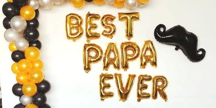 Premium Classy Balloon Decor for Best Papa Ever