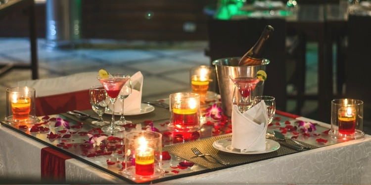 The splendor of the ambience is sure set in the mood for the rest of the evening