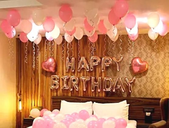 Surround yourself with beautiful balloon decor and call all your close friends to celebrate your birthday.