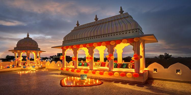Royal Gazebo Private candle light Dinner in Jaipur