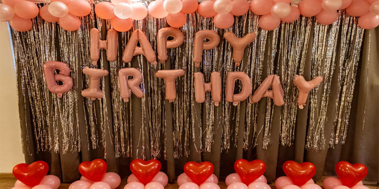 Speak out with Hearts Birthday Decoration