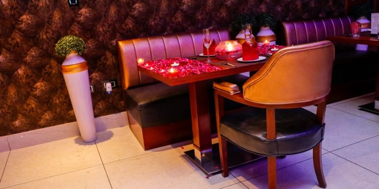 Spend a romantic time with your date at a beautiful cafe with nice music and lights.