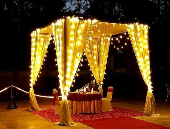 Sparkling Cabana by poolside