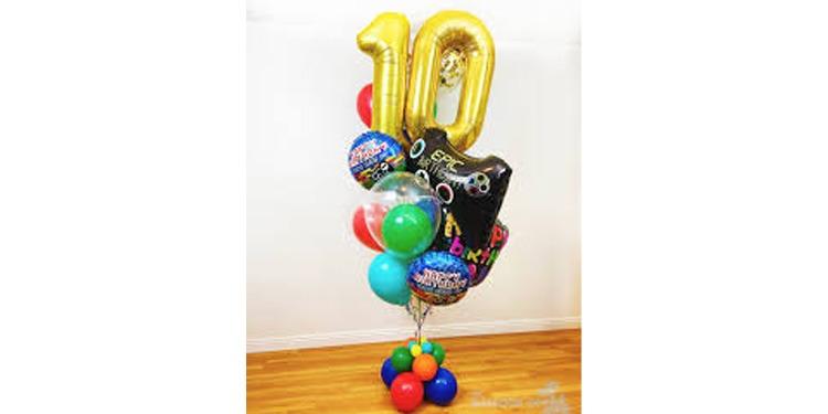 Lovely Ten Balloon Bouquet