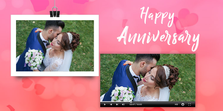 Personalised Anniversary Video Message