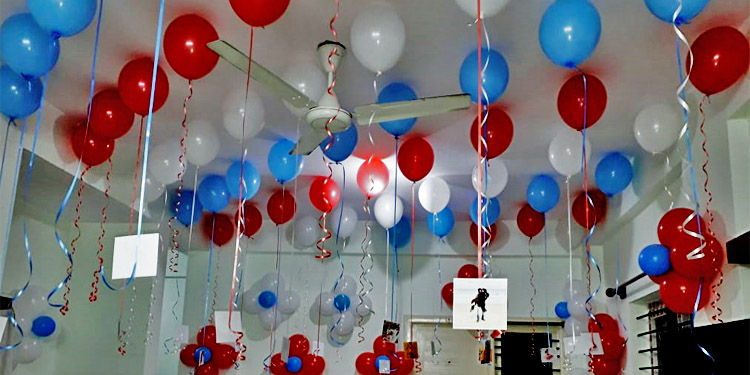 Balloon Shock Decoration in Bangalore