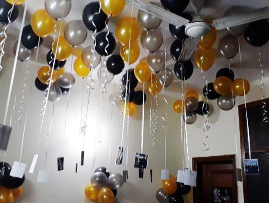Balloon Shock Surprise Decoration in Kolkata