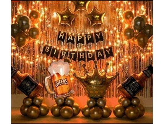 Cheers Birthday Balloon Decor
