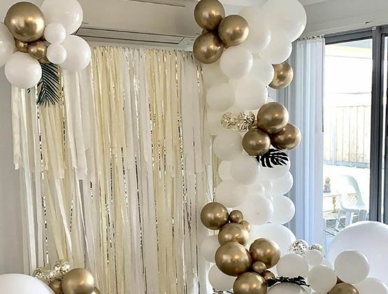No party's complete without an ultra-chic backdrop.
