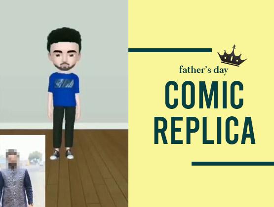 Father's Day Comic Replica