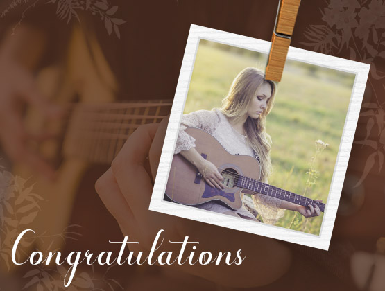 Congratulations in a melodic way