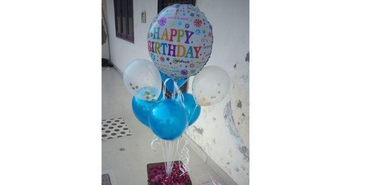 Glittery Happy Birthday Balloon Bouquet