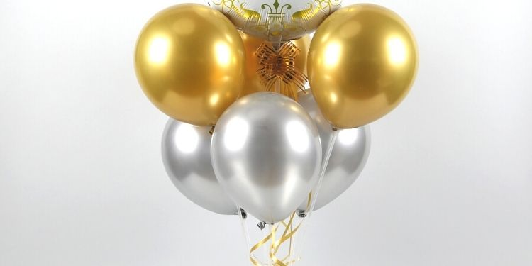 Gold & Silver Congratulations Balloon Bouquets