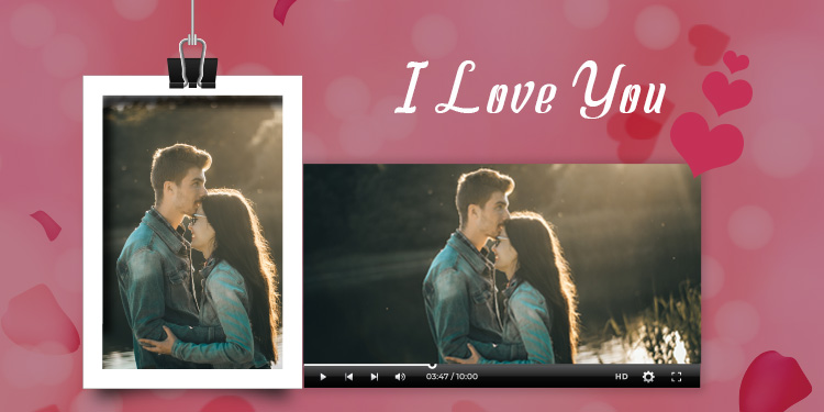 Express the love for the one through a personalised video message.