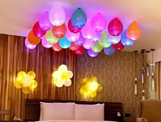 A perfect room decoration and home celebration are as good as your romantic outings.