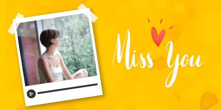 Personalised MISS YOU Message