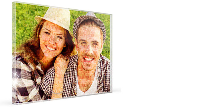 Express your love by gifting your loved one an epic photo frame! This is a picture made out of several smaller, hundreds of pictures!