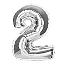 Number 2 Foil Balloon