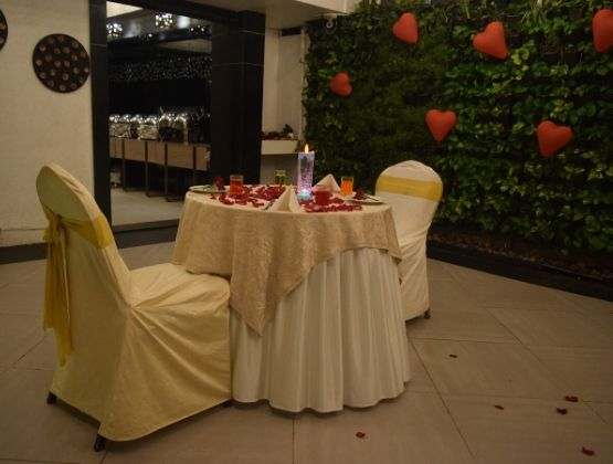 The contemporary ambience has an intimate warmth
