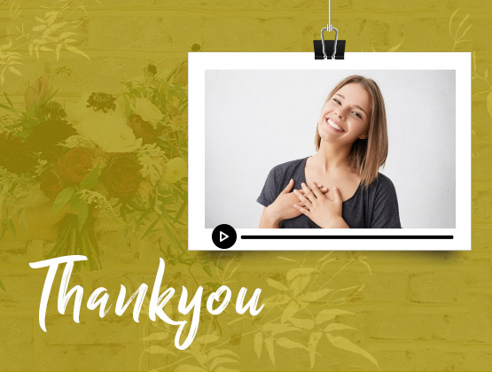 Personalised THANK YOU Video Message