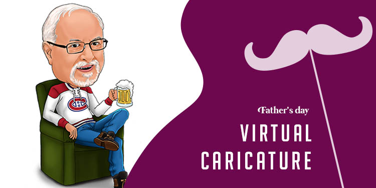 Father's Day Virtual Caricature
